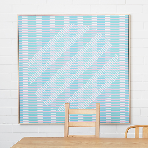 Large Floating Frame Aveira Canvas Blue